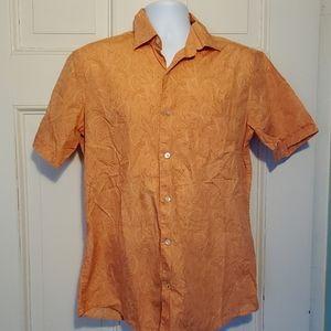 Banana Republic Men's Short Sleeve Shirt Orange M